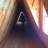 Covered Wooden Tunnel to Lighthouse