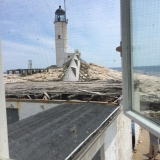 View of Lighthouse From Upstairs Bedroom in Keepers Cottage