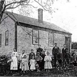 Historical photo of the Epsom schoolhouse