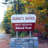 Sign on West Side Rd for Diana's Baths