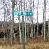 Street Sign for Lower Falls Rd