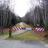 Lower Ammonoosuc Falls Trailhead at Parking Area. This is a Snowmobile Trail in Winter.