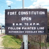 Fort Constitution Sign and Hours