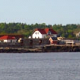 Portsmouth Harbor Lighthouse from Great Island Common in New Castle, NH.