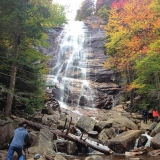 Arethusa Falls in The Fall After a Heavy Rain