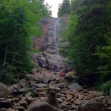 Arethusa Falls During Dry Weather in Mid-Summer, Photo by Nick Goodwin - Be sure to consider the weather previous to your hike to Arethusa Falls or you could miss the rushing water which really makes Arethusa Falls exciting!