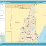 NH Population Map - Courtesy of NationalAtlas.gov