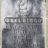 Abel Blood and Betsy Blood Headstone at Pine Hill Cemetery (Blood Cemetery)