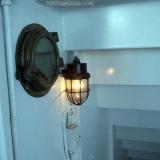 M/S Mount Washington Cruise Ship - Old ship light and port hole