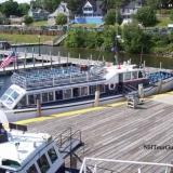 Two Mail Boats on Lake Winnipesaukee - View from the MS Mount Washington Cruise Ship on Lake Winnipesaukee