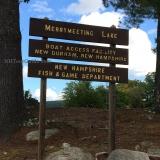 Merrymeeting Lake Boat Ramp - Sign at the entrance