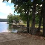Merrymeeting Lake Boat Ramp - Dam near the boat ramp