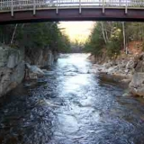 Rocky Gorge Albany NH - Foot bridge and gorge