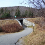 Pathway Under I-93 to The Basin - Cascade Brook Trail and other hiking trails are accessed on the other side of the highway.