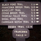 Trail Sign Across the Bridge at Lincoln Woods