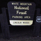 Lincoln Woods Sign on Kancamagus Highway