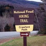 Crawford Path Parking Lot Entrance - View from Rt. 302 in Crawford Notch NH