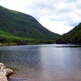 Profile Lake - At the base of Cannon Mountain, Old Man of the Mountain used to be viewed above this pristine lake.