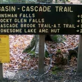 Kinsman Falls in Franconia Notch NH - Trail sign