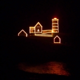 Nubble Lighthouse - Christmas in July