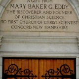 Mary Baker Eddy Dedication on the First Church of Christ, Scientist Concord NH