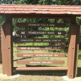 Franklin Falls Dam Sign