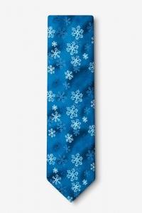 Snowflake Tie: Blue Tie With Snowflakes