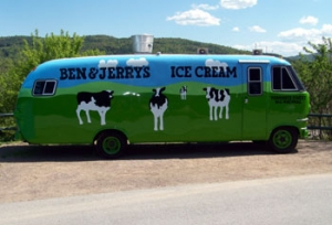 Ben and Jerry's Ice Cream Factory in Vermont