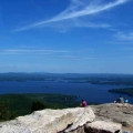 Hiking Mount Major Alton, NH.