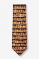 Pumpkin Tie: Navy Blue With Orange Pumpkins