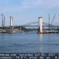 Drawbridge Cam: The Sarah Long Bridge in Portsmouth NH