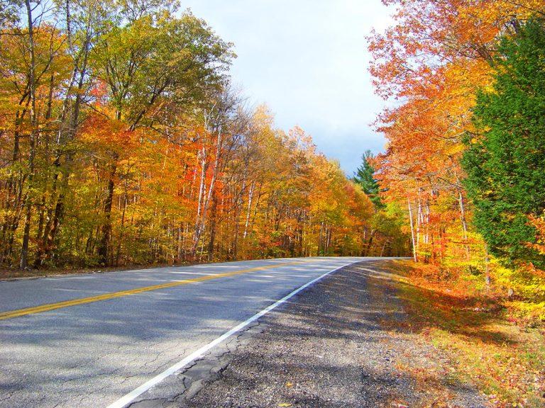 Kancamagus Highway During Fall Foliage Season