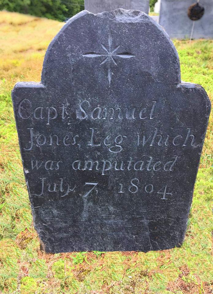 nh grave for captain samuel jones leg